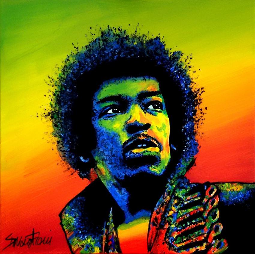 Jimi Hendrix por simoflame